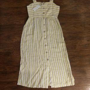 Rachel Zoe Yellow Linen Summer Dress Size 4 NEW